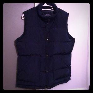 NWT vest Lands end 600 down silver